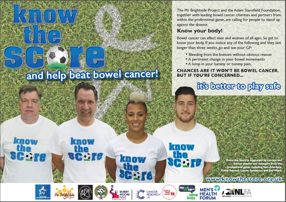 FOOTBALL UNITES TO TACKLE BOWEL CANCER