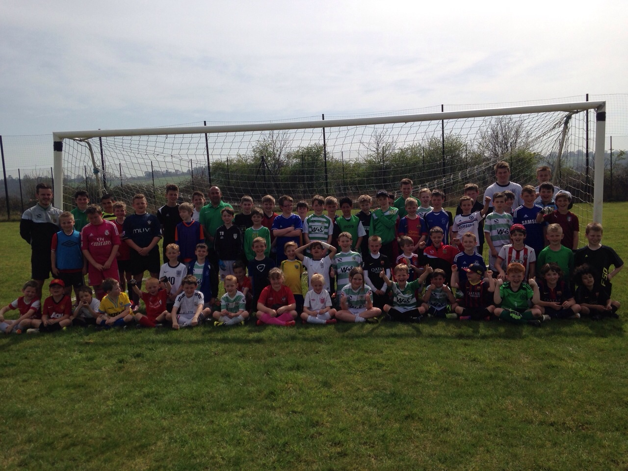 EGGS-CELLENT WEATHER FOR SOCCER SCHOOL
