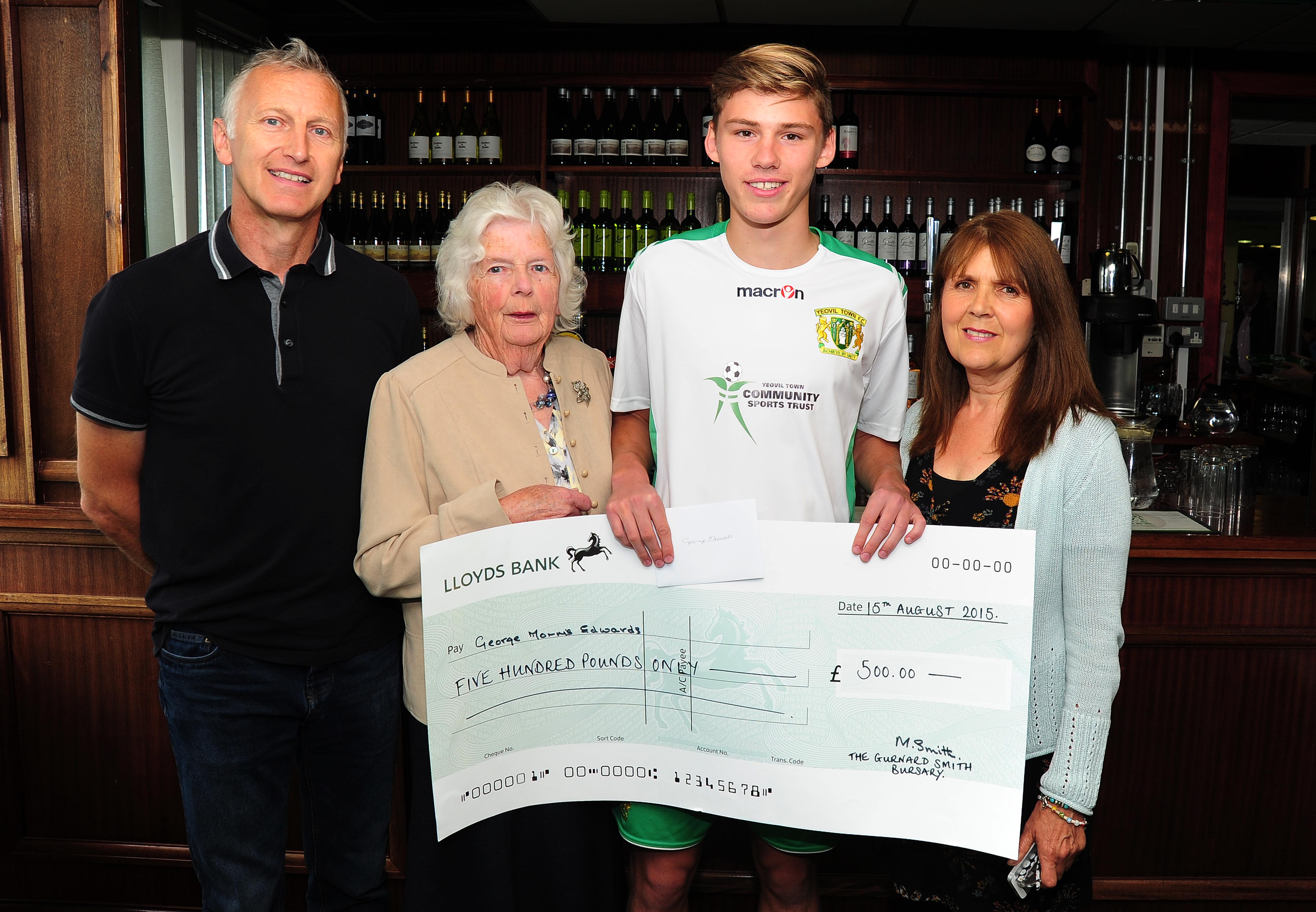 BURSARY HELPS GEORGE STAY ON THE BALL